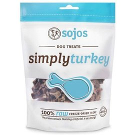 Sojos Sojos Simply Turkey Freeze-Dried Dog Treats, 4-oz Bag