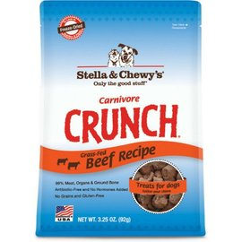 Stella & Chewy's Carnivore Crunch Beef Dog Treat 3.25-oz