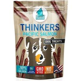 Plato Pet Treats Plato Thinkers Salmon Dog Treats, 10-oz Bag