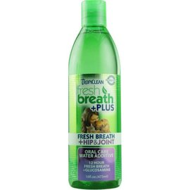 TropiClean TropiClean Fresh Breath Water Additive + Plus Hip & Joint, 16-oz Bottle