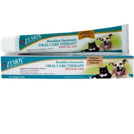 Zymox Zymox Brushless Enzymatic Oral Care Dental Gel for Dogs & Cats, 2.5-oz Tube