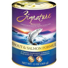 Zignature Zignature Trout & Salmon Limited Ingredient Canned Dog Food, 13-oz Can