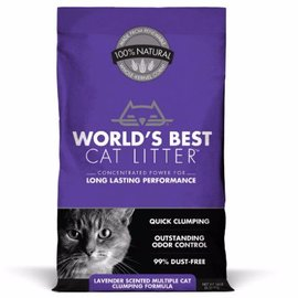 World's Best Cat Litter World's Best Lavender Scented Multiple Cat Clumping Cat Litter 14-lb Bag