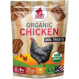 Plato Pet Treats Plato Organic Chicken Strip Dog Treats, 16-oz Bag