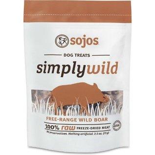 Sojos Sojos Simply Wild Boar Freeze-Dried Dog Treats, 2.5-oz Bag