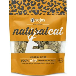 Sojos Sojos Cat Naturals Venison Liver Freeze-Dried Treats, 1-oz Bag
