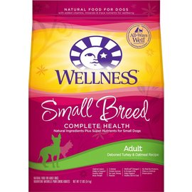 Wellness Complete Health Small Breed Deboned Turkey & Oatmeal Dry Dog Food