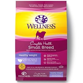 Wellness Complete Health Small Breed Healthy Weight Turkey & Brown Rice Dry Dog Food 4-lb Bag