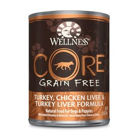 Wellness Wellness Core Turkey, Chicken Liver & Turkey Liver Grain-Free Canned Dog Food 12.5-oz  Can