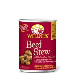Wellness Beef Stew with Carrots & Potatos Grain-Free Canned Dog Food 12.5-oz Can