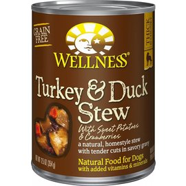 Wellness Wellness Turkey & Duck Stew with Sweet Potatoes and Cranberries Grain-Free Canned Dog Food 12.5-oz Can