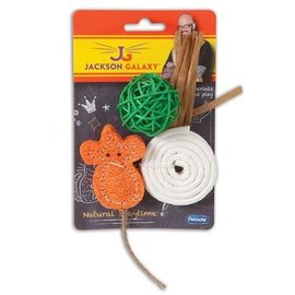 Petmate Jackson Galaxy Natural Play Time Cat Toy 3-Pack