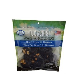 Tucker's Tucker's Wag-A-Round Beef Liver and Banana Grain-Free Dog Treat 6-oz Bag
