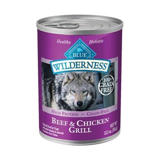 Blue Buffalo Blue Wilderness Beef & Chicken Grill Grain-Free Canned Dog Food, 12.5-oz Can