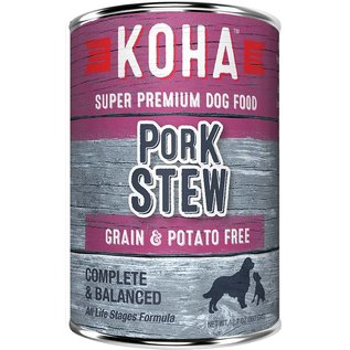 Koha Koha Pork Stew Grain-Free Canned Dog Food, 12.7-oz Can