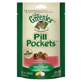 Greenies Greenies Cat Pill Pockets Salmon 1.6-oz Bag