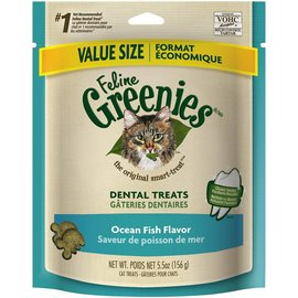 Greenies Greenies Feline Dental Treats Ocean Fish 5.5-oz Bag