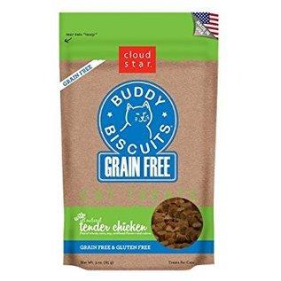 Cloud Star Cloud Star Cat Buddy Biscuits Tender Chicken Grain-Free Soft Treat 3-oz Bag