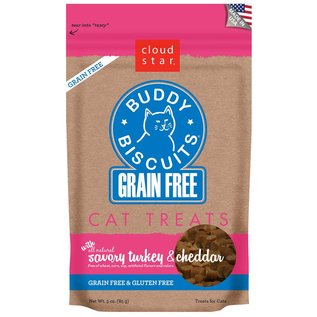 Cloud Star Cloud Star Cat Savory Turkey & Cheddar Grain-Free Soft Treats 3-oz Bag
