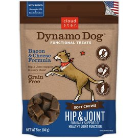 Cloud Star Dynamo Dog Hip & Joint Soft Chews Bacon & Cheese Dog Treats