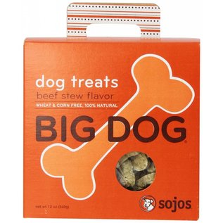 Sojos Sojos Big Dog Beef Stew Dog Treats 12-oz Box