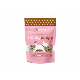 Sojos Simply Puppy Beef & Venison Freeze-Dried Dog Treats 2.5-oz Bag