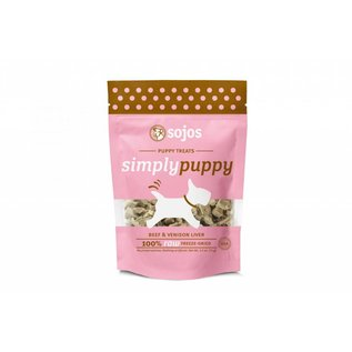 Sojos Simply Puppy Beef & Venison Freeze-Dried Dog Treats 2.5-oz Bag