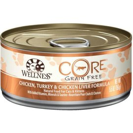 Wellness Core Chicken, Turkey, & Chicken Liver Grain-Free Canned Cat Food