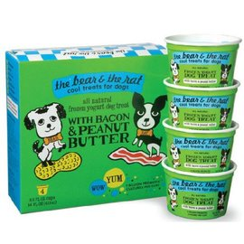 The Bear and The Rat Bacon & Peanut Butter Frozen Yogurt Dog Treat 3.5-oz