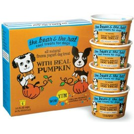 The Bear and The Rat Pumpkin Frozen Yogurt Dog Treat 3.5-oz