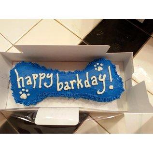 "Arf! Barking Fresh 6"" Blue Bone Peanut Butter Birthday Cake"
