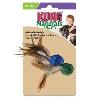 Kong Kong Naturals Crinkle Ball with Feathers Cat Toy