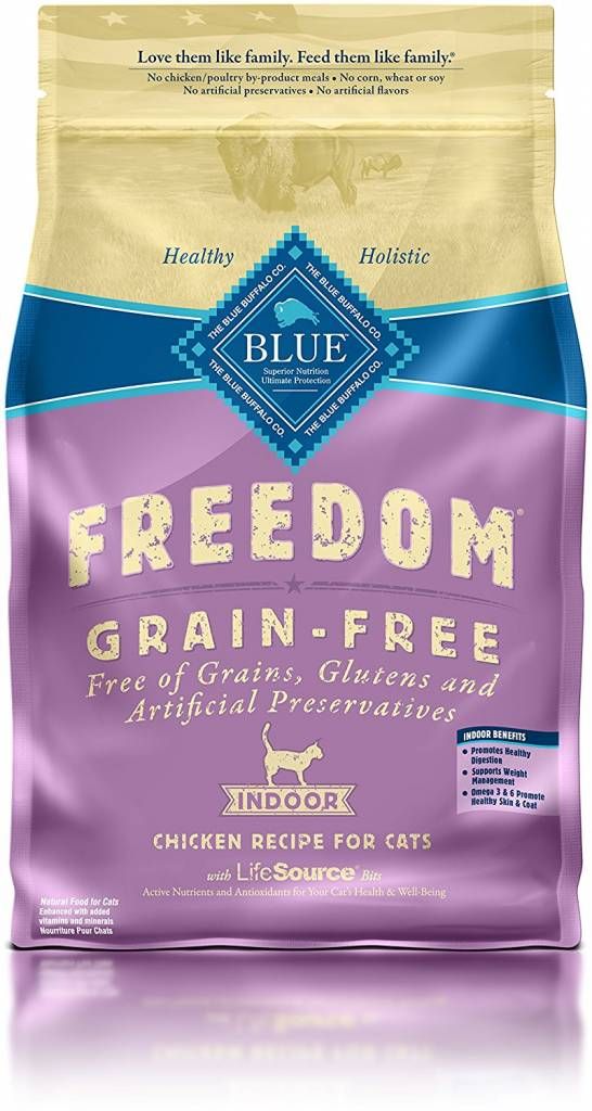Blue Buffalo Blue Buffalo Freedom Grain Free Indoor Chicken Dry Cat