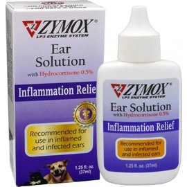 Zymox Enzymatic Ear Solution with Hydrocortisone, 1.25-oz Bottle