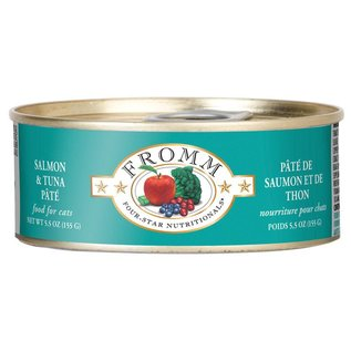 Fromm Pet Foods Fromm Salmon and Tuna Pate Canned Cat Food, 5.5-oz Can