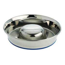 Our Pets Our Pets Durapet Stainless Steel Slow Feed Dog Bowl