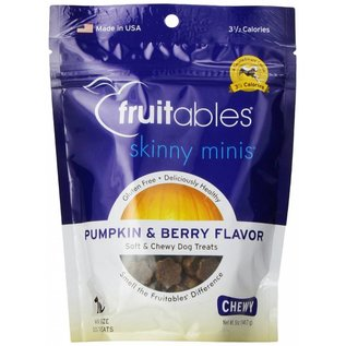 Fruitables Skinny Minis Pumpkin and Berry Soft & Chewy Dog Treat 5oz