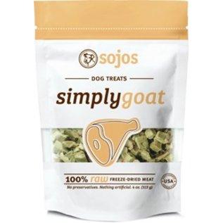 Sojos Sojos Simply Goat Freeze-Dried Dog Treat, 4-oz Bag