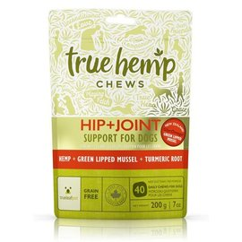 True Hemp True Hemp Chews Hip & Joint Support Formula Dog Supplements. 7-oz Bag