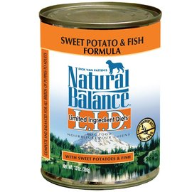 Natural Balance Sweet Potato & Fish Limited Ingredient Canned Dog Food 13-oz Can