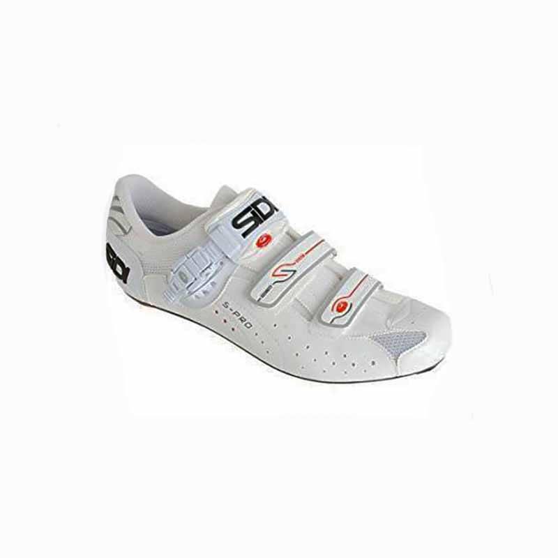 Sidi Mens Genius 5 Road Shoe Vernice White 46