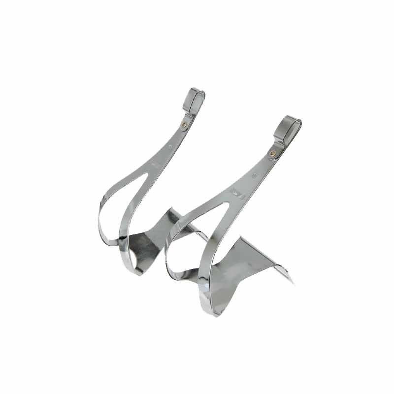 MKS Steel Toe Clips Chrome