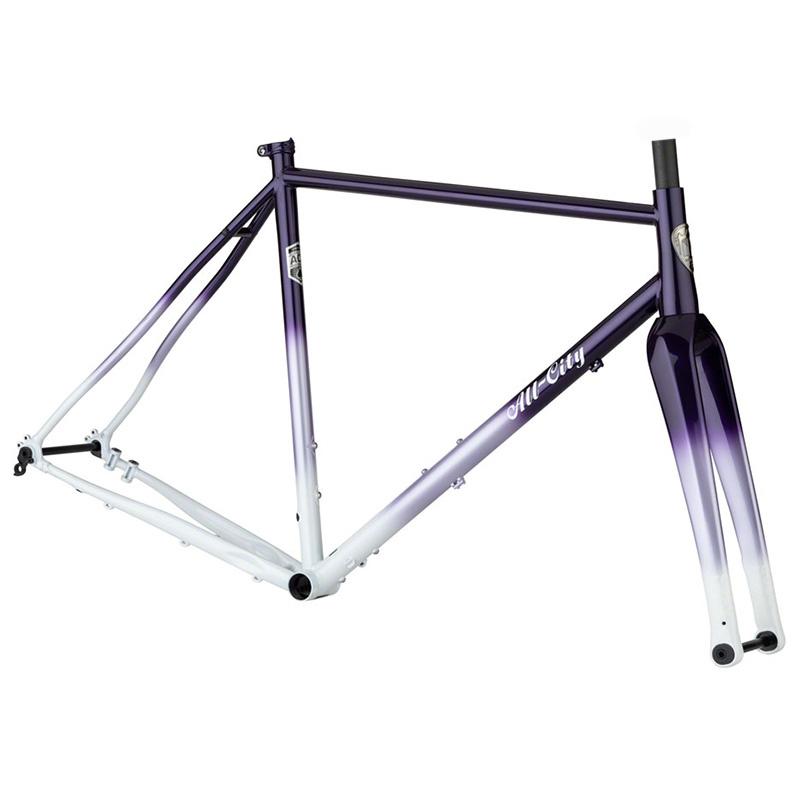 All-City Cosmic Stallion Frameset - 700c, Steel, Purple Fade, 58cm