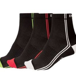 Endura Stripe 3 pair Socks L/XL