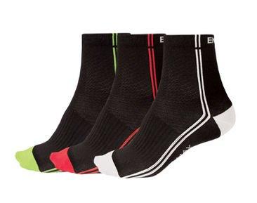 Endura Stripe 3 pair Socks L/XL