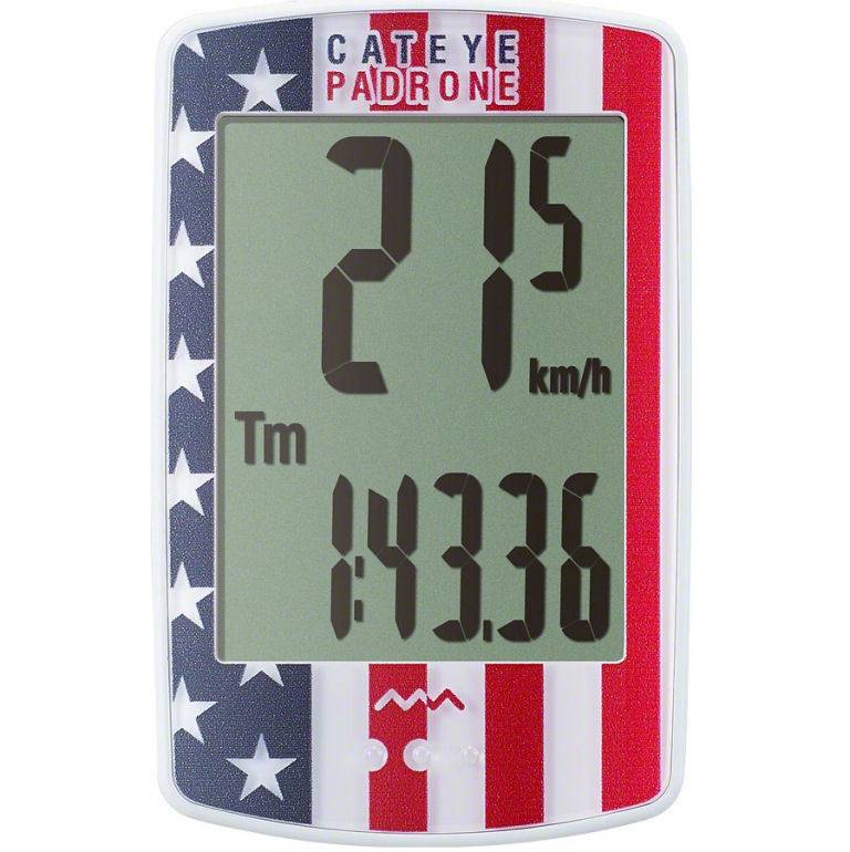 CatEye Padrone Wireless Cycling Computer CC-PA100W: USA Flag