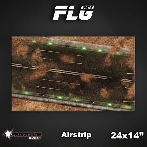 "Frontline Gaming FLG Mats: Airstrip 24"" x 14"""