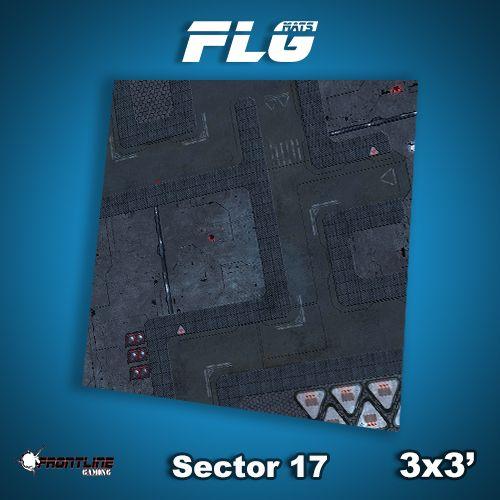 Frontline Gaming FLG Mats: Sector 17 3x3'
