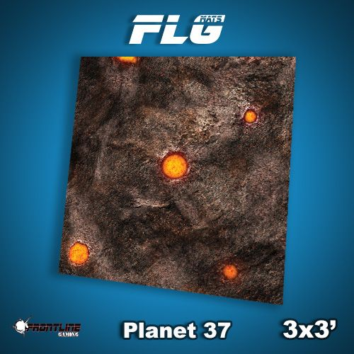 Frontline Gaming FLG Mats: Planet 37 3x3'