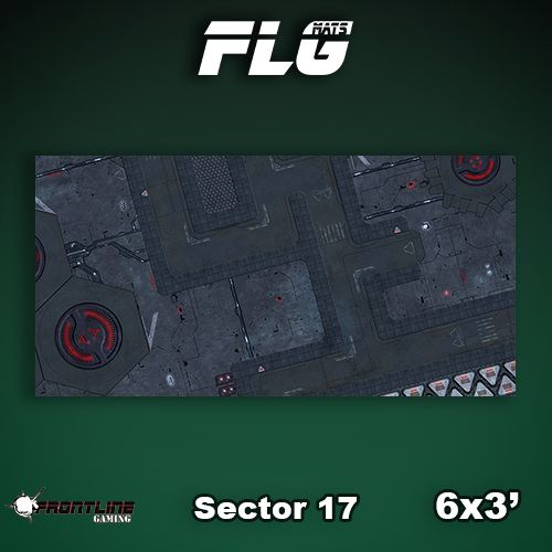 Frontline Gaming FLG Mats: Sector 17 6x3'